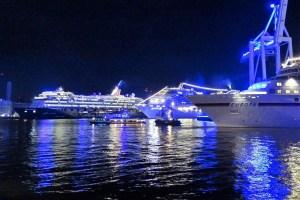 Kreuzfahrtschiffe im Hamburger Hafen
