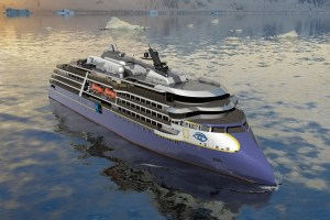 Rendering of Lindblad Expeditions Newbuilding
