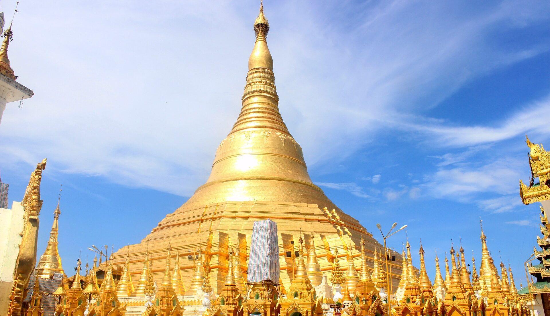 Shwedagon Pagoden i Myanmar