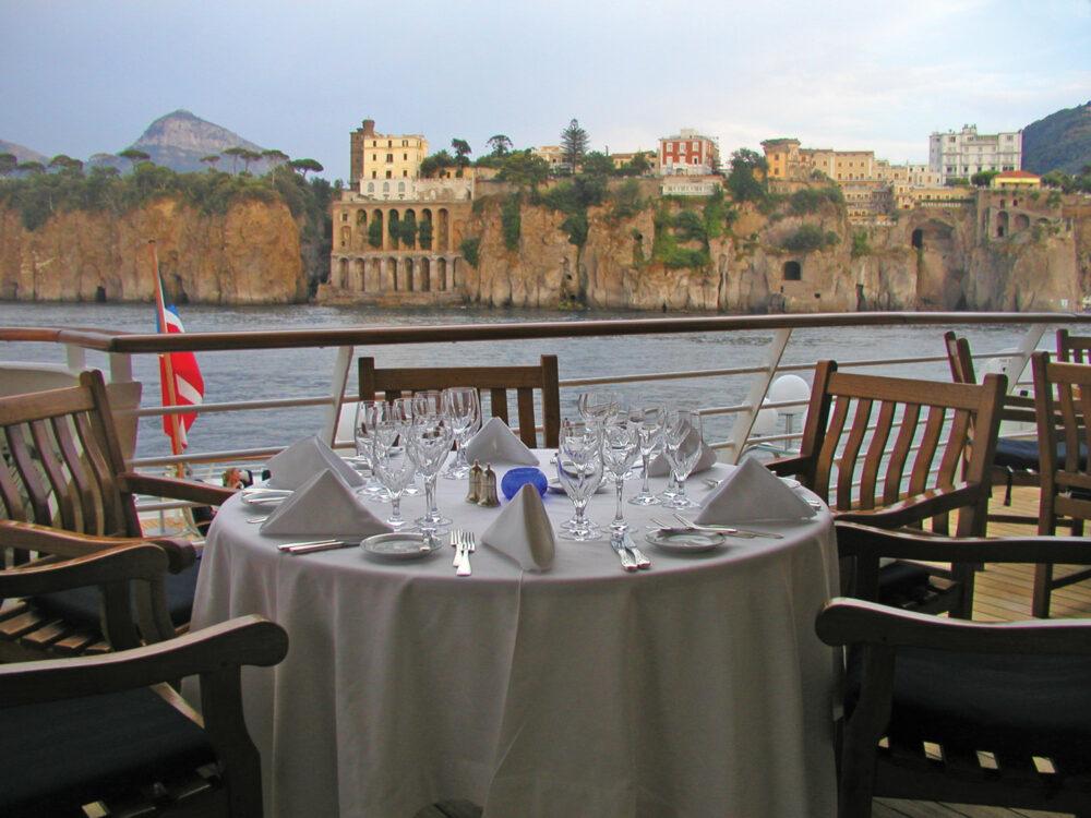 Restaurant med smuk udsigt