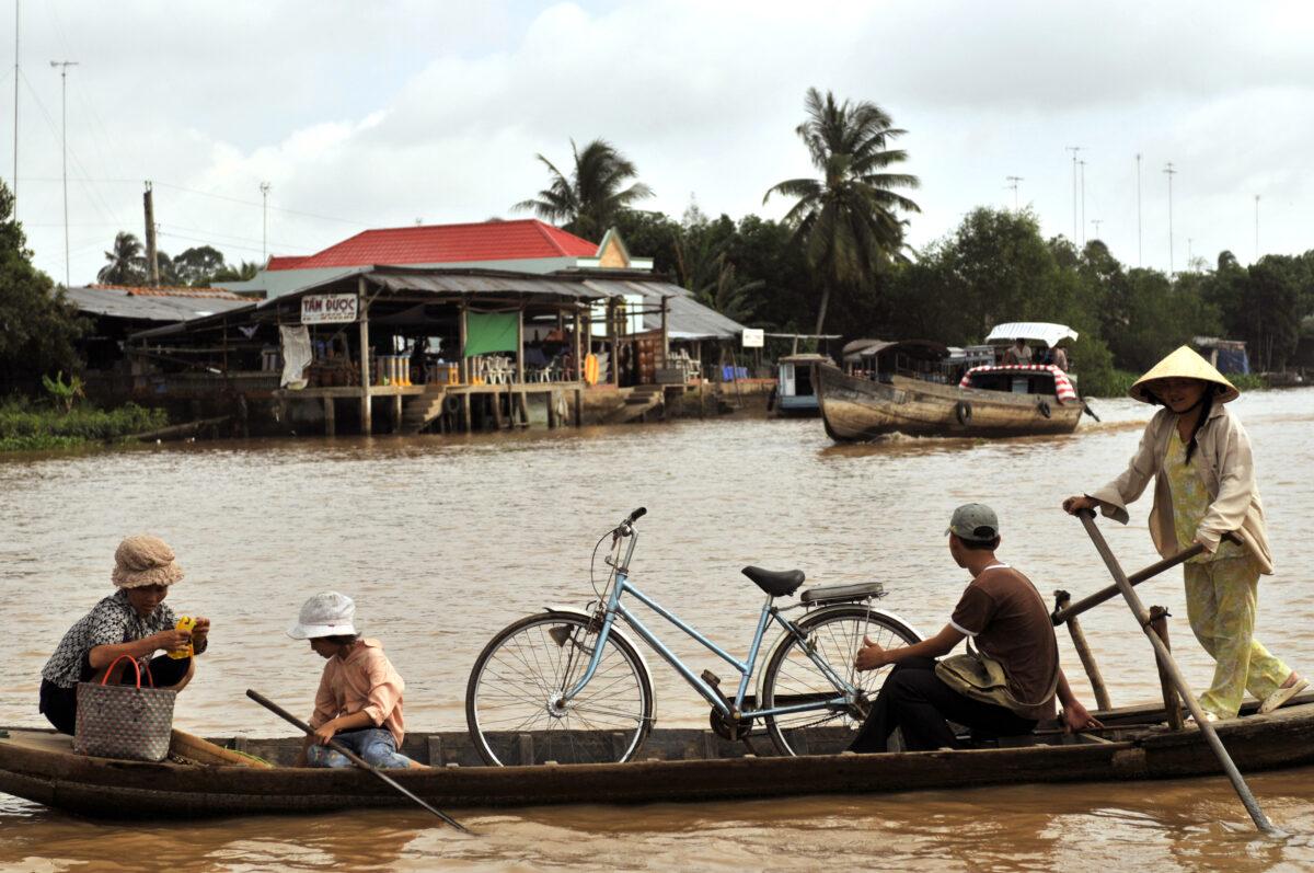 Mekong Floden i Vietnam