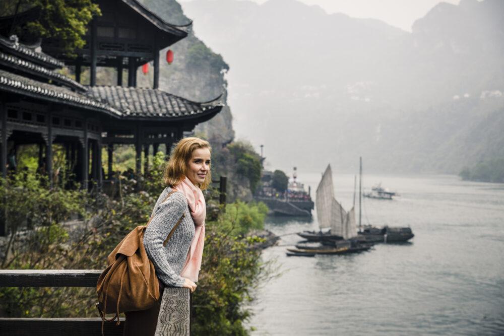 Synsindtrykkene på Yangtze floden nærmer sig de magiske af slagsens