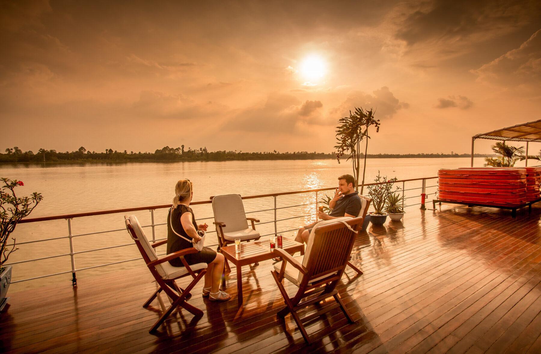 Flod cruises på Mekong floden i Cambodia og Vietnam