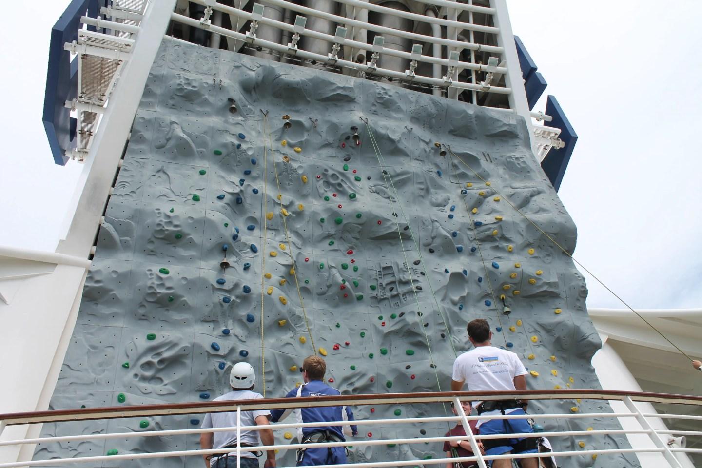 Royal Caribbean cruise ship climbing wall
