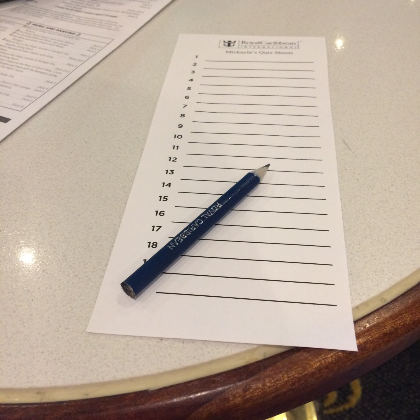 If you like quizzes, Royal Caribbean will have plenty on sea days