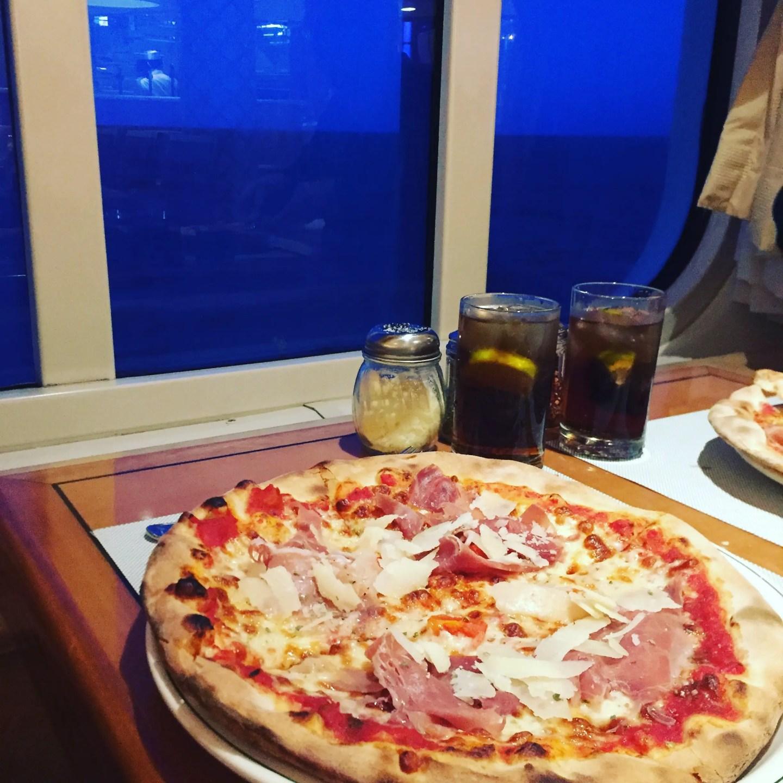 The 'Sapphire Princess' pizza in Alfredo's Pizzeria