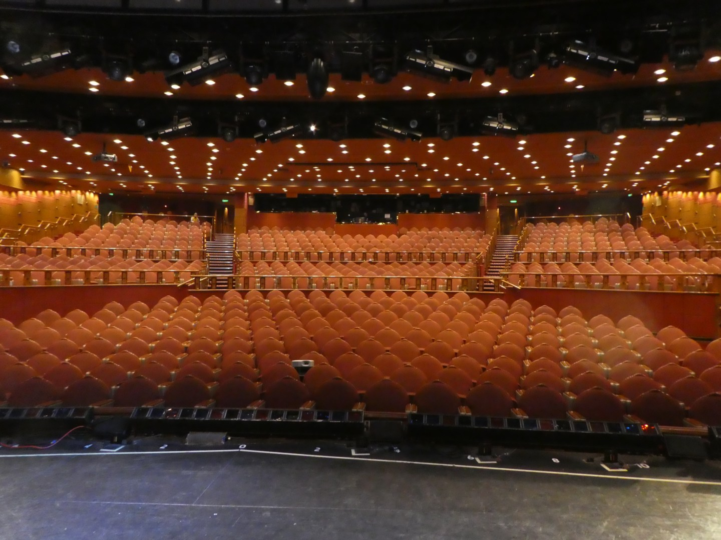 The view from the stage of the Princess Theater