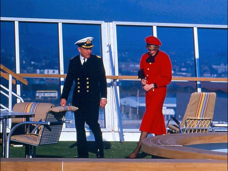 HRH Princess Diana cruise ship christening