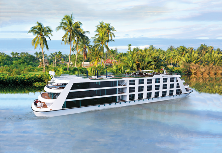 The new Emerald Harmony Star Ship, designed to be able to sail straight into Ho Chi Minh City