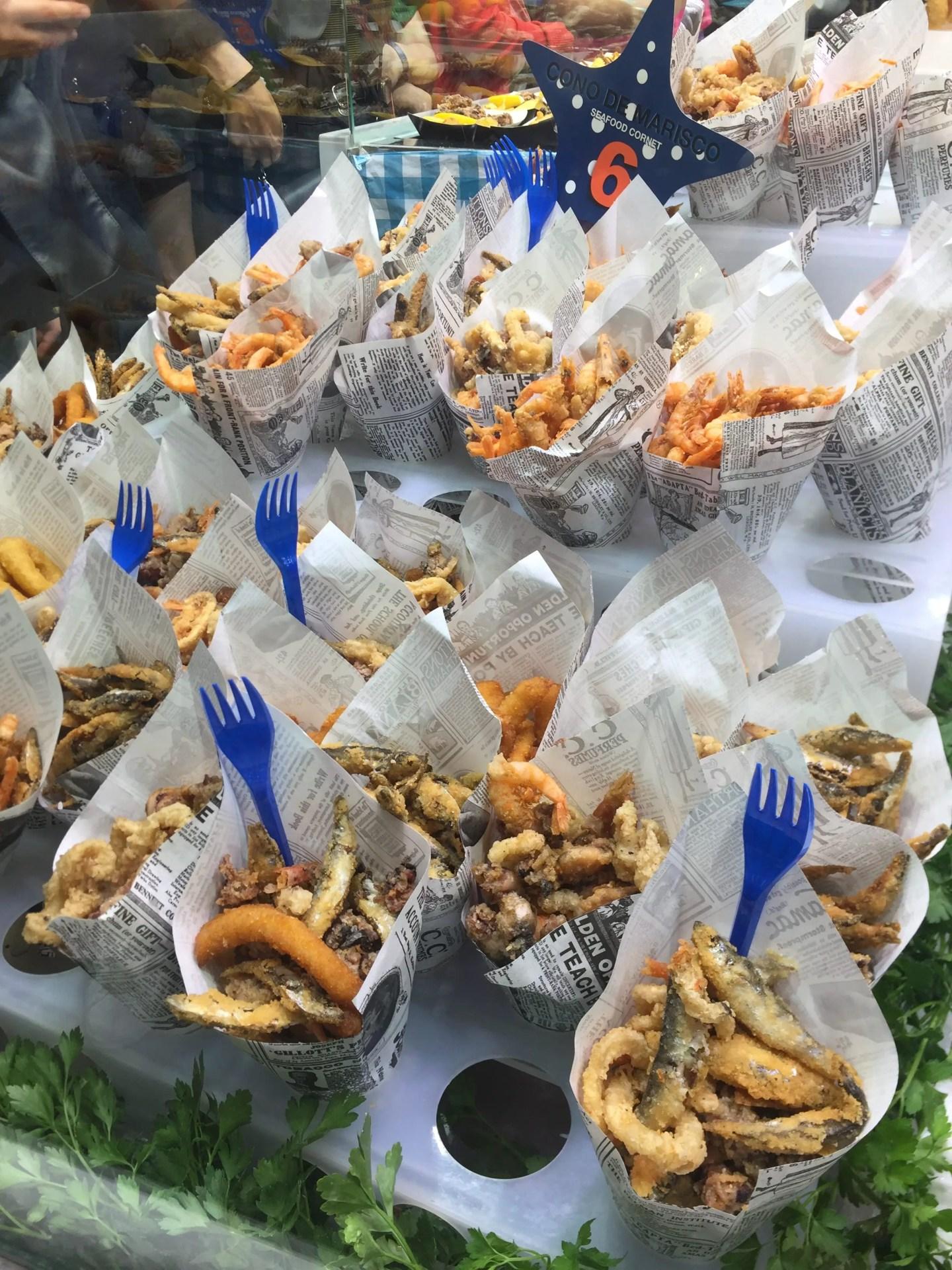 seafood La Boqueria