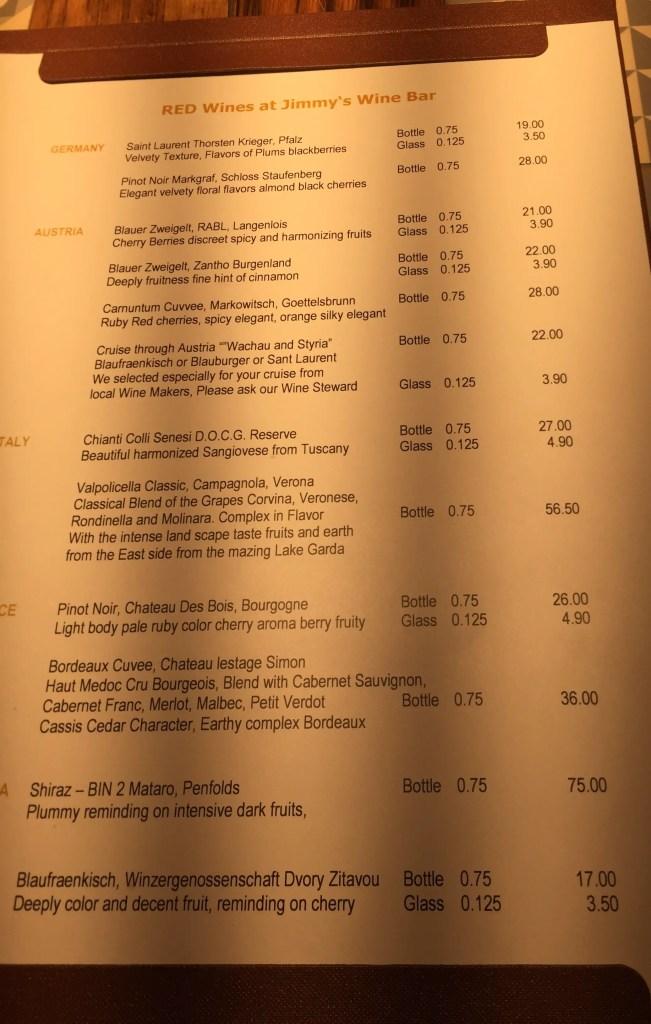 AmaMagna Red Wine list drinks