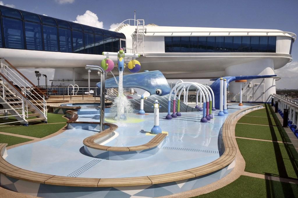 Caribbean Princess family splash zone area
