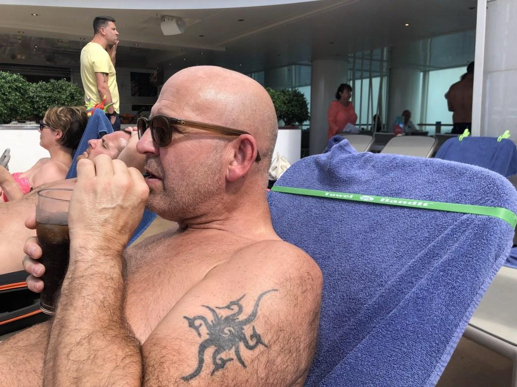 Towel Bandit review cruise ship lido deck