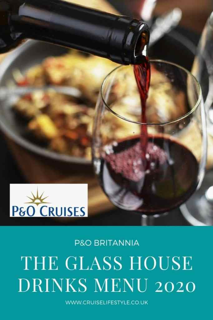The Glass House on Britannia offers passengers a relaxed atmosphere and a small plate menu, complimented by exclusive wines. Drinks menu 2020 included.