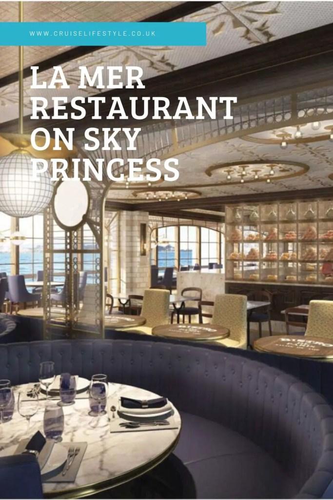 la mer restaurant sky princess