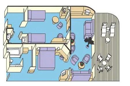 Princess cruises for families suite diagram