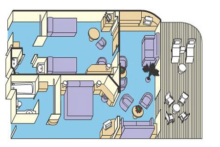 Princess cruises for families suite diagram
