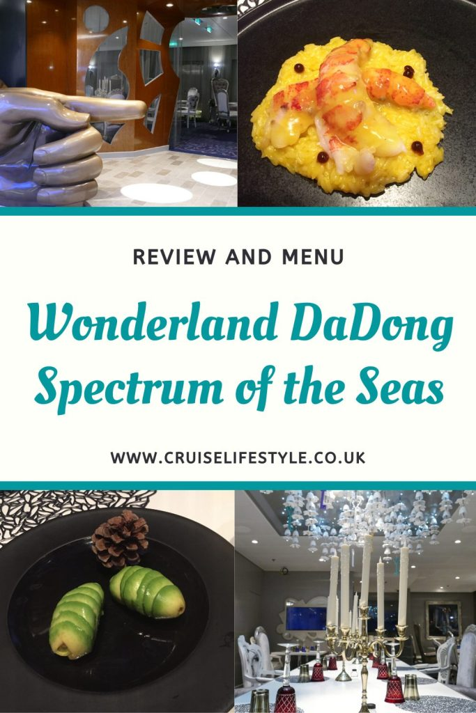 A review of Wonderland DaDong, a specialty restaurant on Spectrum of the Seas.