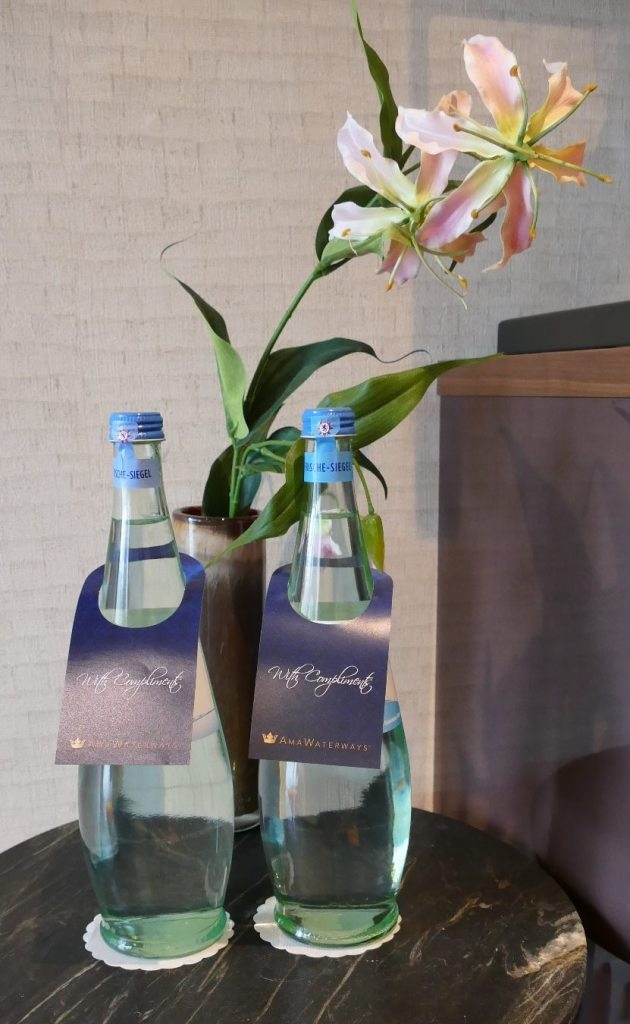 AmaWaterways drinks complimentary water