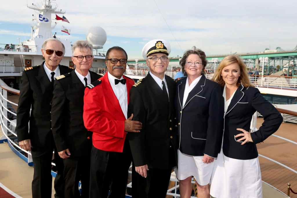Love Boat cast on Pacific Princess