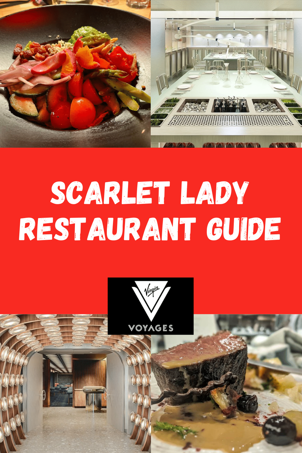 What can you expect from Scarlet Lady restaurants? Virgin Voyages promises new dining concepts and epic eats onboard its first cruise ship.