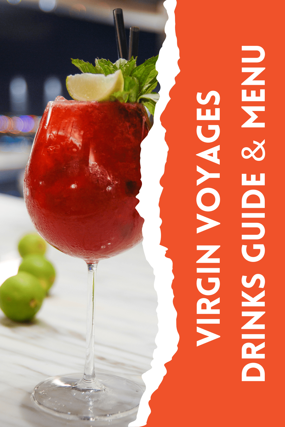 Virgin Voyages does not offer a drinks package so I've created a useful guide to Virgin Voyages drinks menus and prices to help you budget.