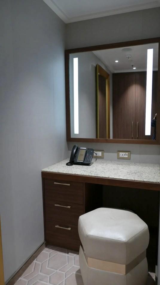 Sky Suite second bedroom dressing area