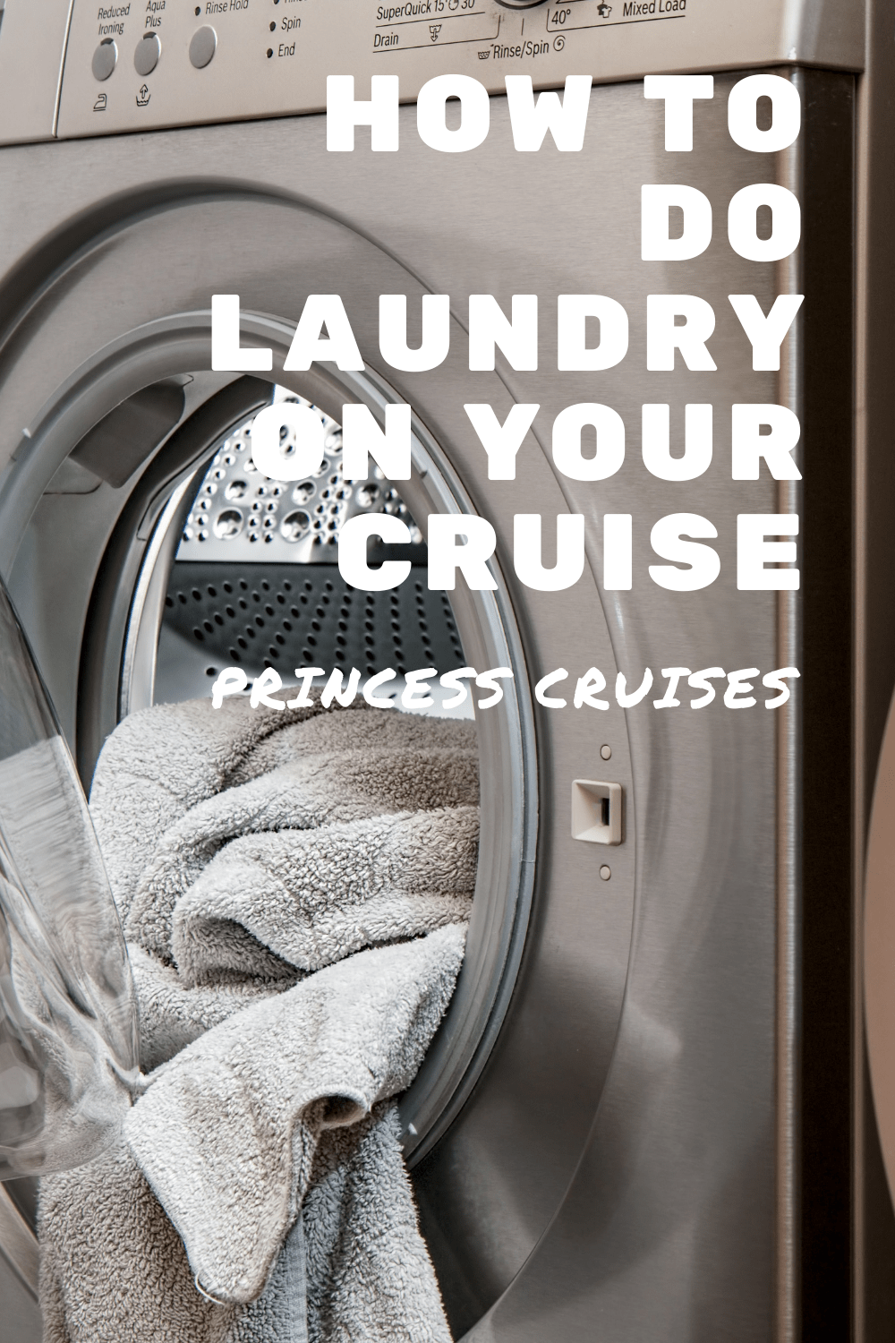 The complete guide to Princess Cruises laundry services, including tips and tricks about how onboard self-service launderettes work.