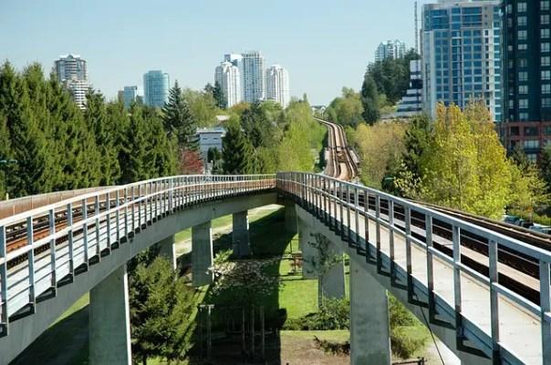 Vancouver skytrain tracks