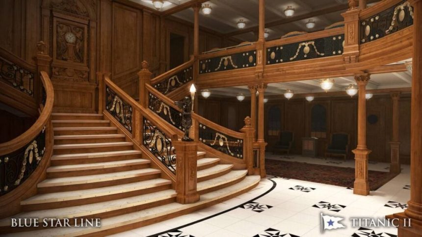 The large projected staircase - Titanic II