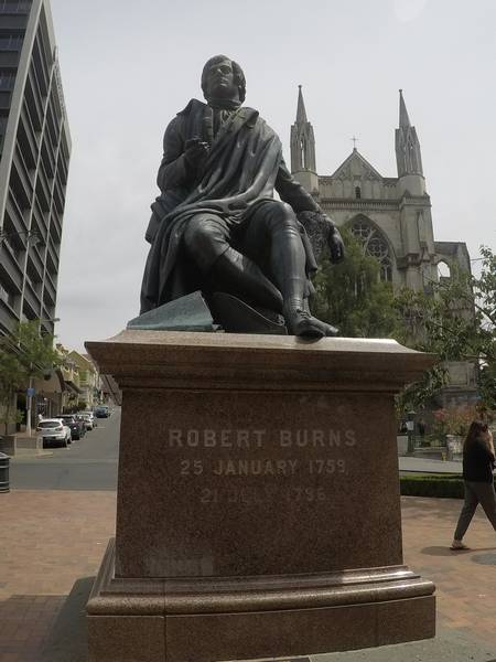 Dunedin's Scottish Roots Robert Burns Statue