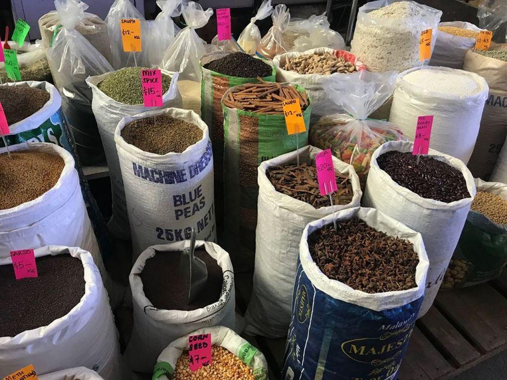 Fijian spices at the Suva municipal market