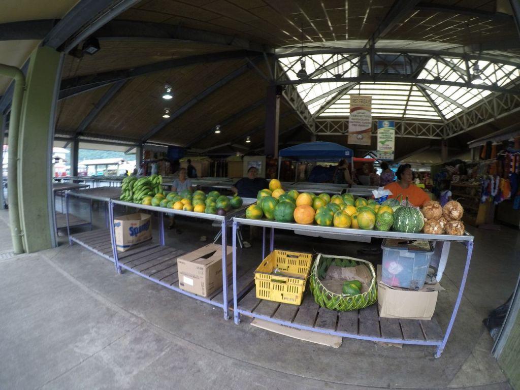 Samoan food market fresh produce