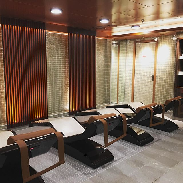 Quiet spa on board P&O cruises Azura in the Retreat on board this Cruise ship