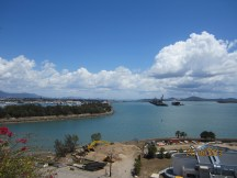 Gladstone Harbour with Curtis Island in the distance.