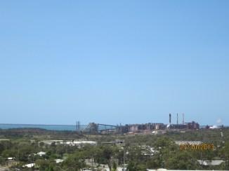 The aluminium smelter.