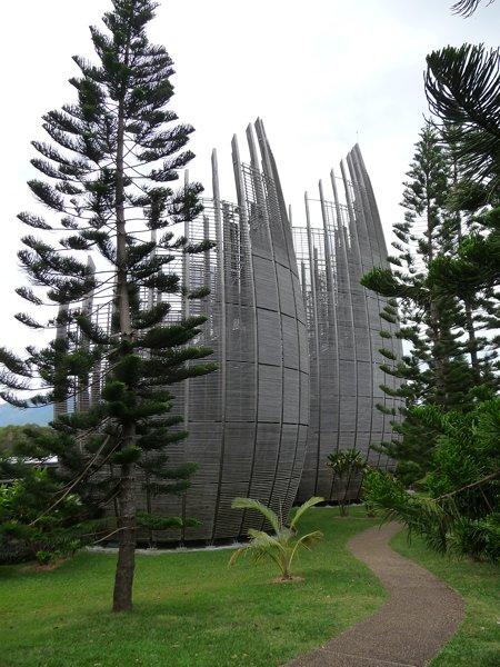 Tjibaou Cultural Centre designed by Renzo Piano