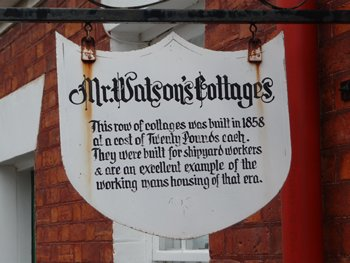 Watson's Cottages sign, Hobart