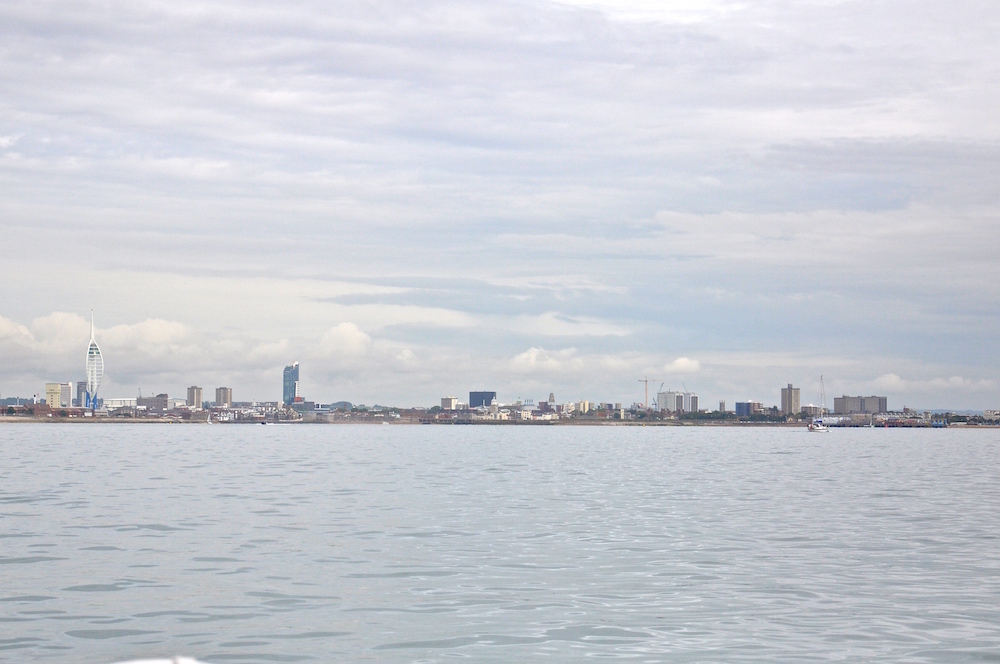 Sailing by Portsmouth | Cruising Attitude Sailing Blog - Discovery 55