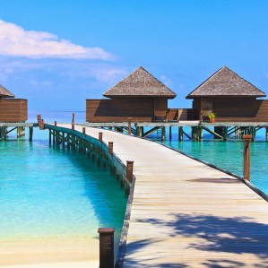 Water villas at Veligandu resort