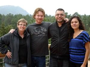 Amy, Matt, and friends in Colorado