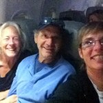 Lisa, Raffi (from Windfall) and Amy off to Logan International Airport