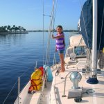 Trynity aboard the Mary T at Sunset Bay ~ Stuart, FL