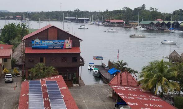 Rio Dulce view of Mar Marine from bridge