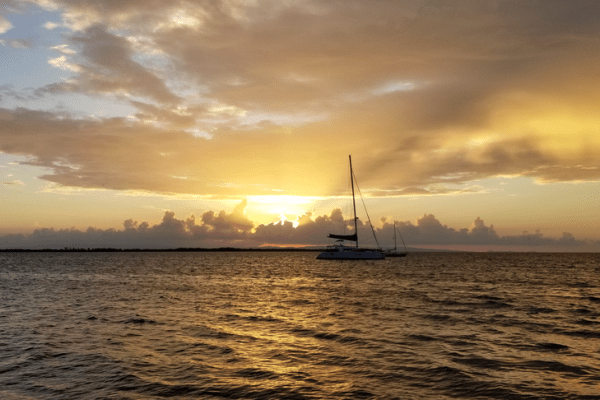 Tobacco Caye Sunset