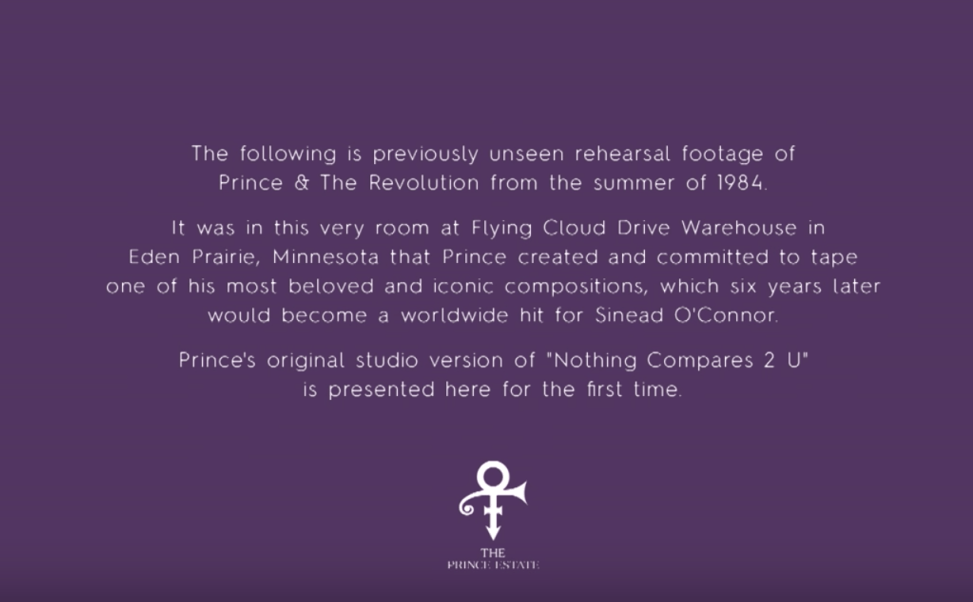 Prince x Nothing Compares 2 U (Official Video)