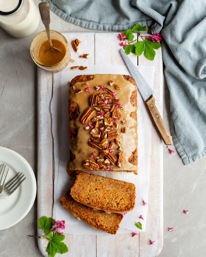 Carrot Spice Loaf with Maple Glaze