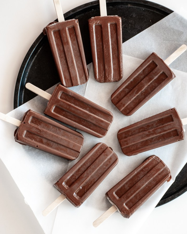 Vegan Chocolate Fudge Ice Pops