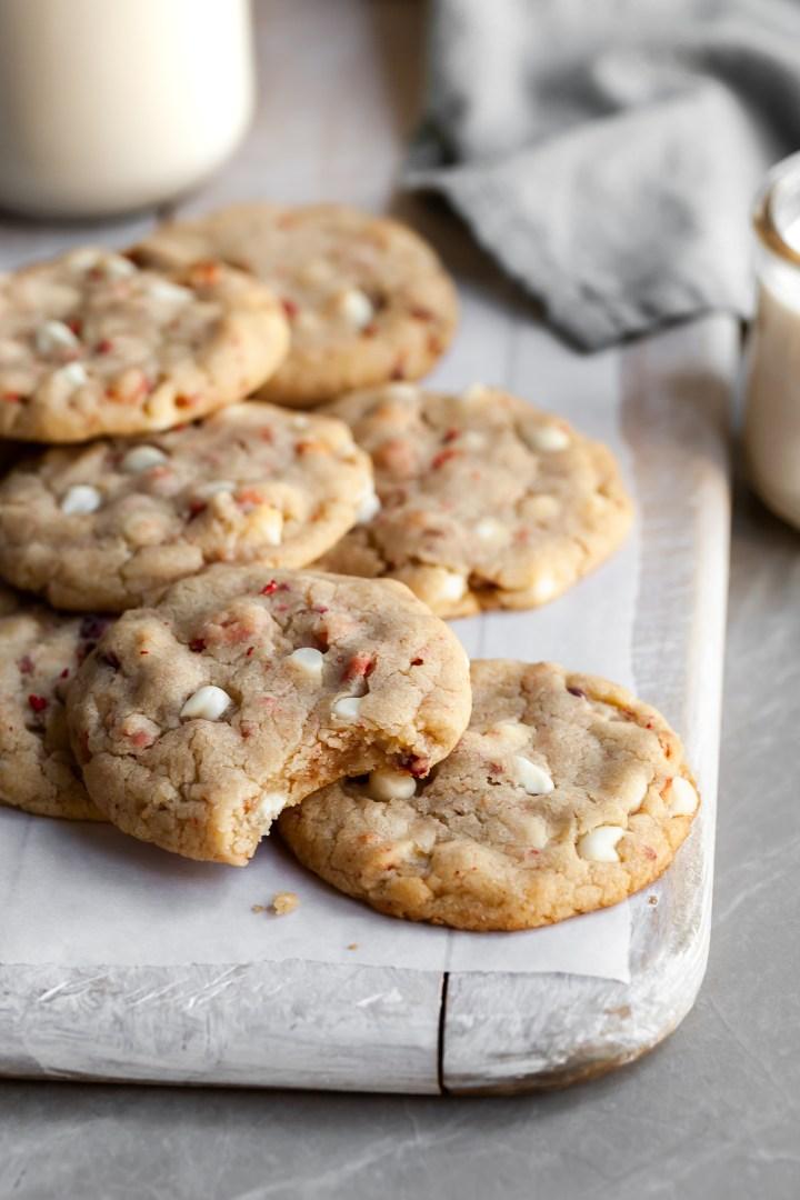Vegan Strawberries & Cream Chewy Cookies