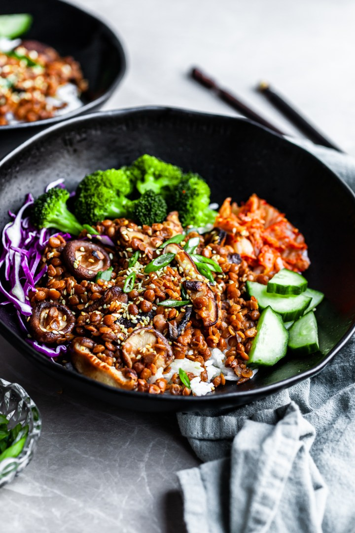 Korean Lentils – Vegan Bulgogi (GF Option)